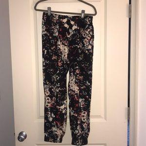Anthropologie black dress jogger-style pants